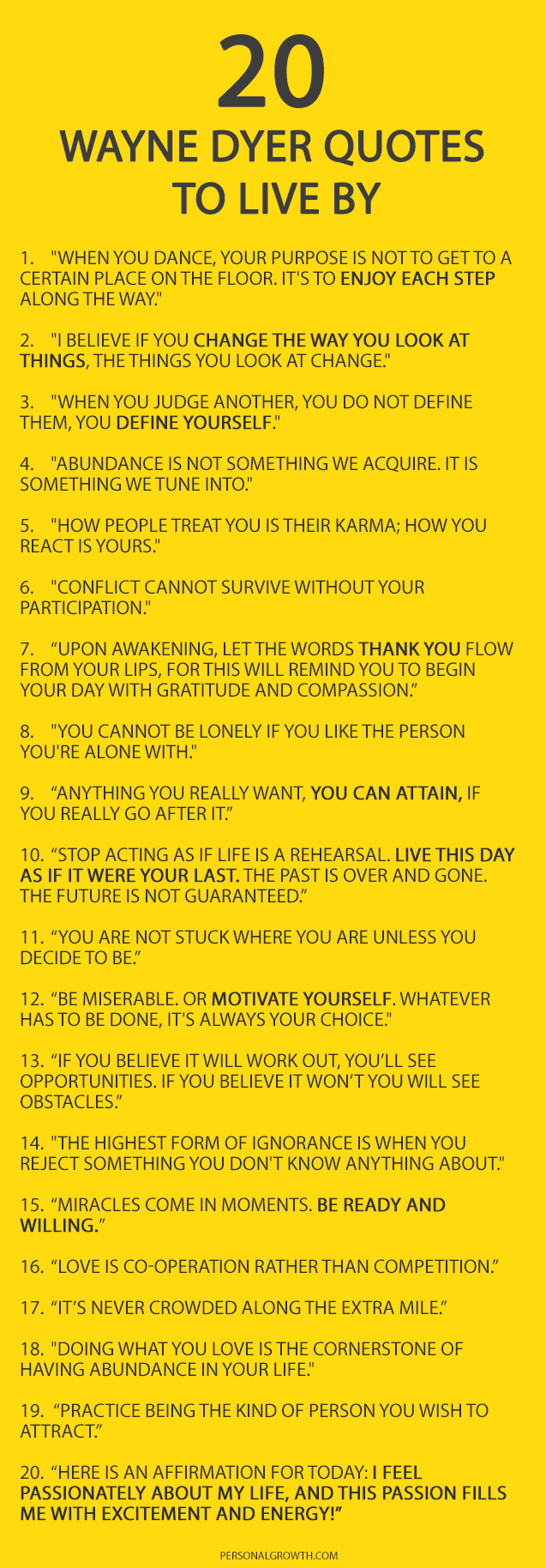 20 Things Wayne Dyer Wanted You To Know