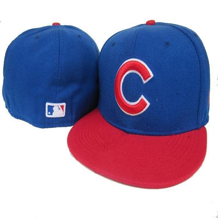 Wholesale  Baseball Caps series  full closed fitted  caps baseball cap flat  brim hat size cap team fans cap 9d9277297be1