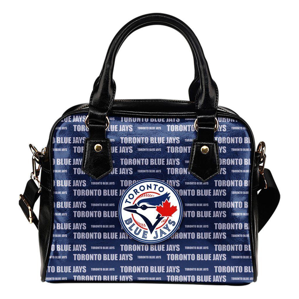 Nice Little Logo Toronto Blue Jays Shoulder Handbags (Có