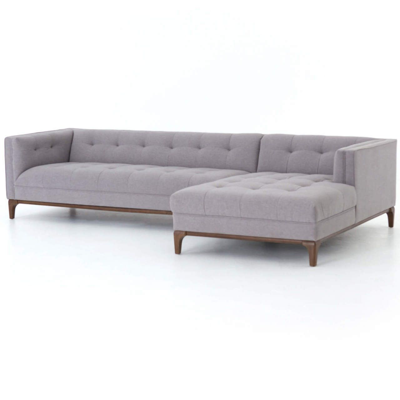 Dylan Mid Century Modern Tufted 2 Piece Sectional Sofa