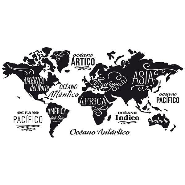 Cartina Geografica Del Mondo In Bianco E Nero.Pin Su Casa