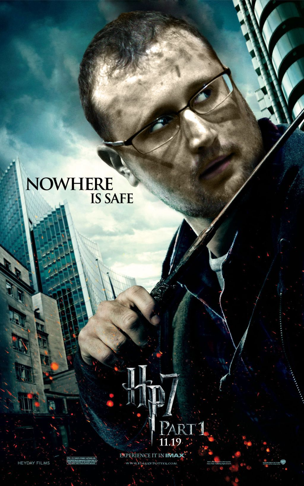 Nowhere is safe Harry potter movie posters