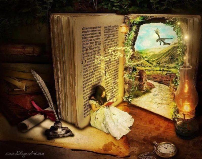 Картинки по запросу чтение | Книжные обои, Фэнтези ...