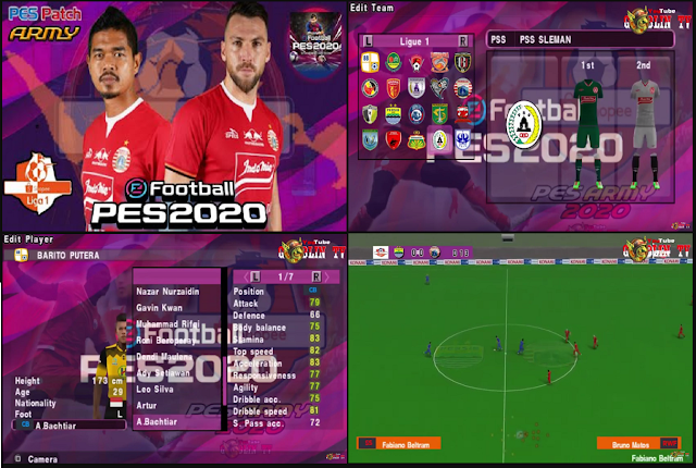 Download PES ARMY 2020 Shopee Liga 1 2019 PPSSPP Android