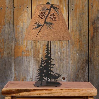 Timbers Elk Metal Art Table Lamp Art Table Lamps Rustic Table Lamps Art Lamp