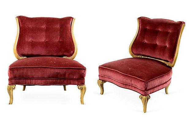 Grosfeld House Slipper Chairs, Pair on OneKingsLane.com