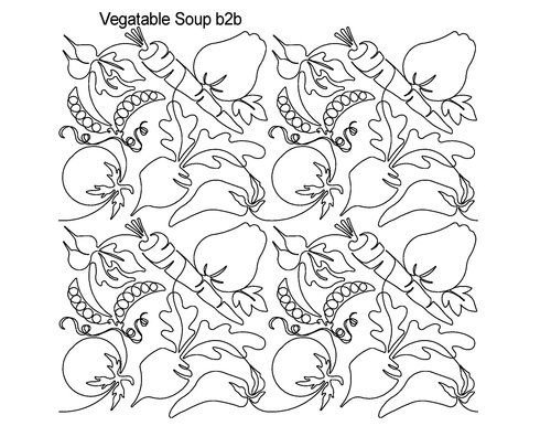 AnneBright.com - Shop   Category: Digitized Designs   Product: Vegetable Soup b2b Peas, Carrots, Beets, Tomatoes, Radishes!