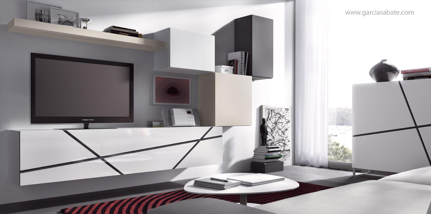 Diseo Salon Muebles Modernos Tele Composiciones Televisin Cool  # Muebles Puchades