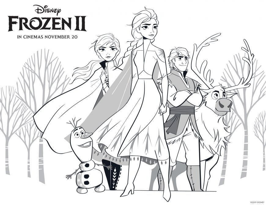 Frozen 2 coloring page in 2020 Elsa coloring pages