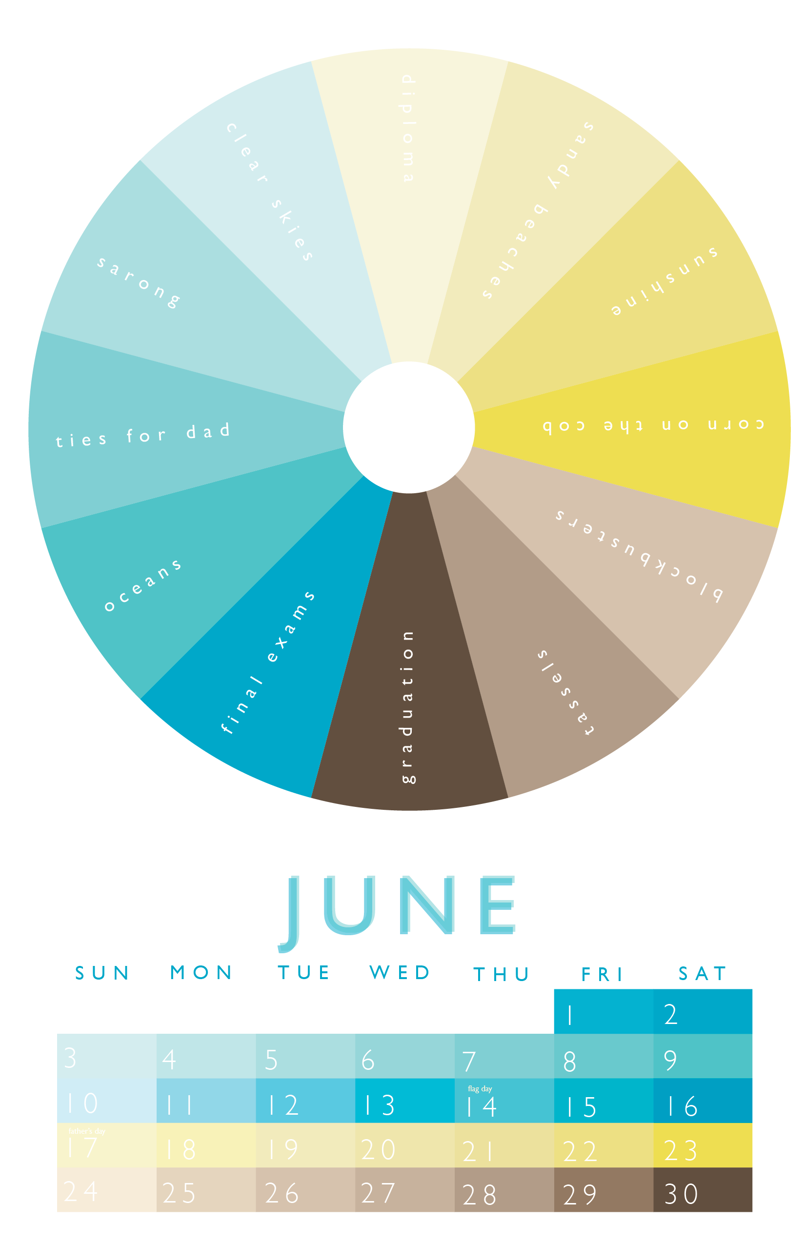 2311a7b5 unique june colors | I WISH I had designed these | Month colors ...