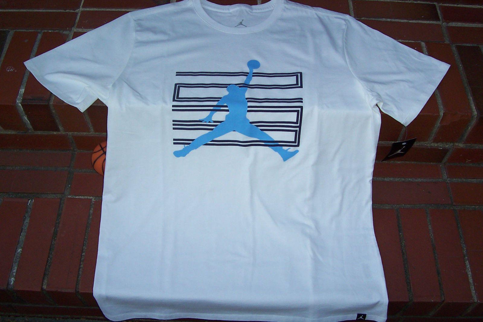 b619f40d2f68d5 BRAND-NEW Nike Air Jordan Retro 11 JUMPMAN 23 White Blue Men s T-Shirt  XL XLarge