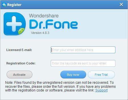 license key for dr fone activation