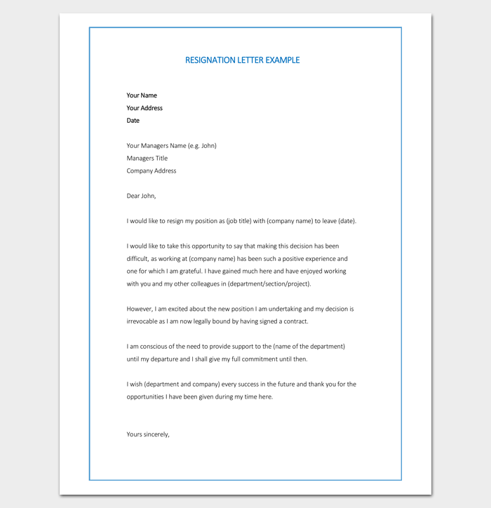 Resignation Letter For Joining New Job  Letter Templates  Write