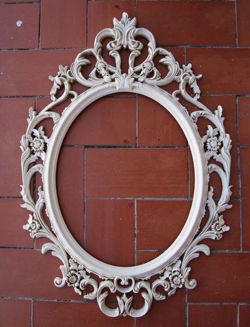 DIY Una muuuuy buena idea, yo quiero un espejo asi y pense que seria ...