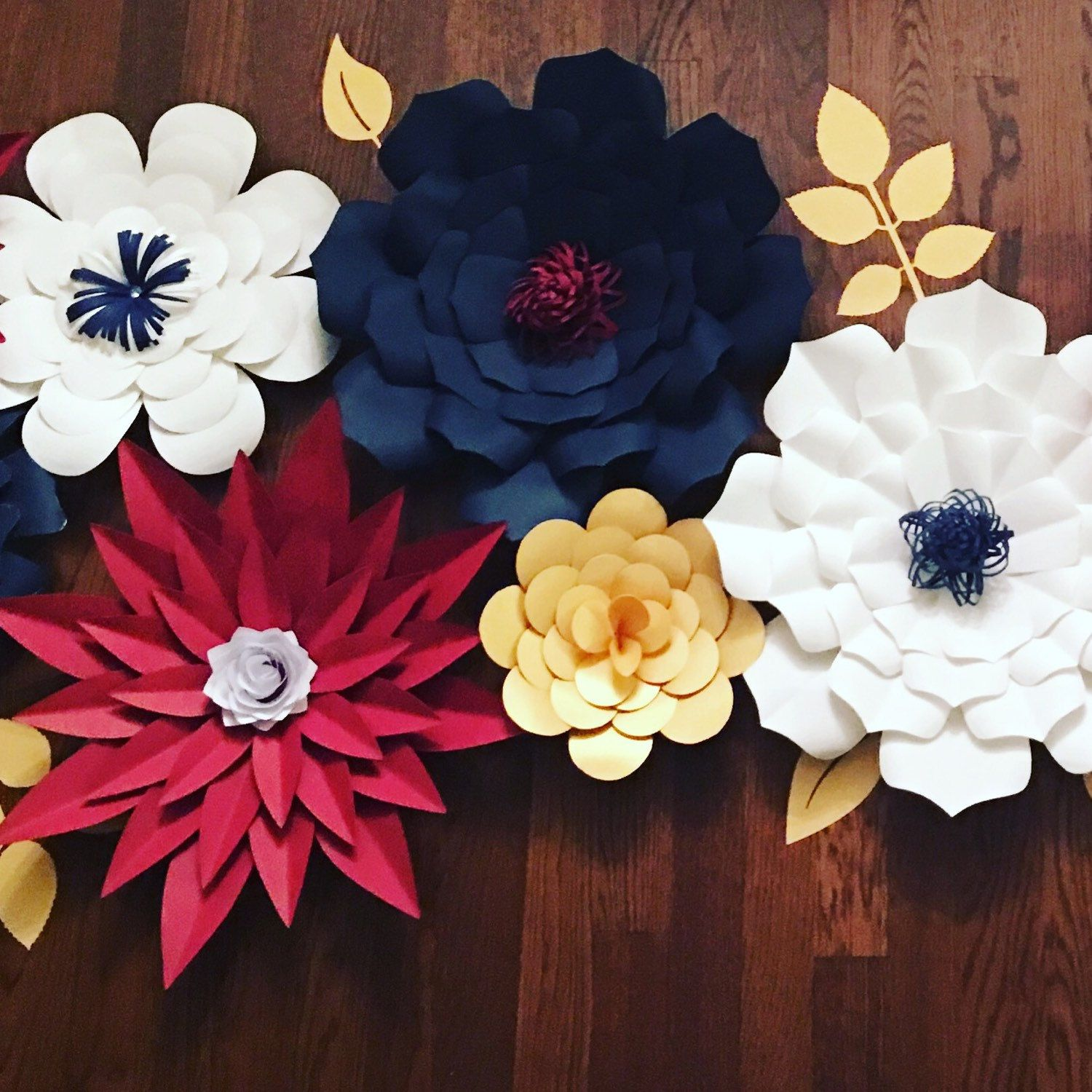Giant/ Large Paper flowers for back drop customizable for wedding ...
