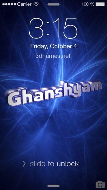 Image Result For Ghanshyam Name Photo Gk Name Wallpaper