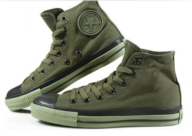 24fed3b3560d army green converse