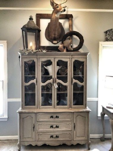 10 Most Beautiful Antique China Cabinet Makeover Ideas images