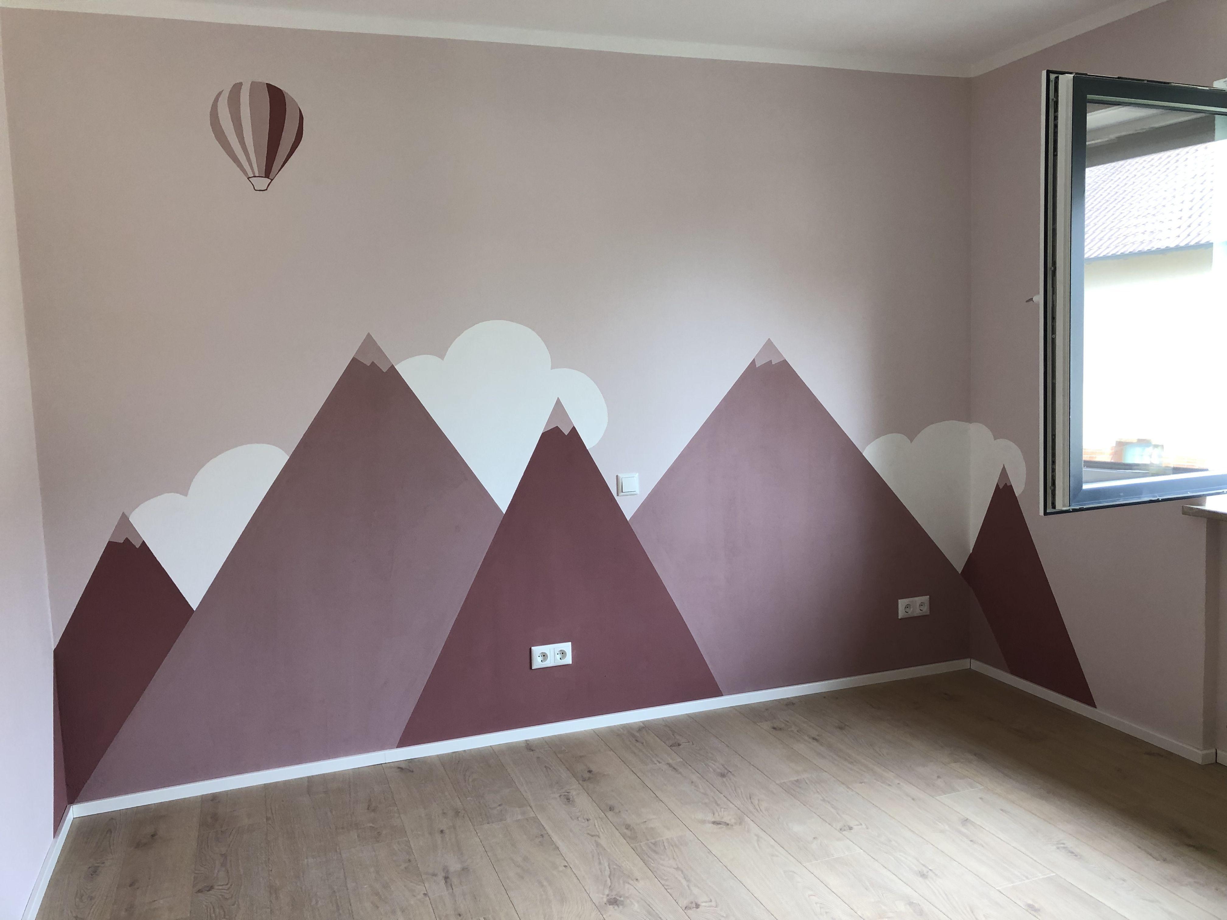 Photo of Kinderzimmer altrosa Berge