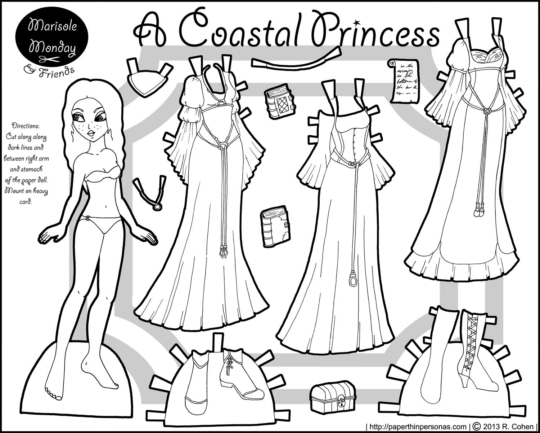 Paper Thin Personas Paper Dolls Princess Paper Dolls Paper Dolls Clothing