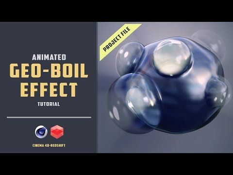6) Geoboil animation without xpresso [Redshift] [CINEMA 4D