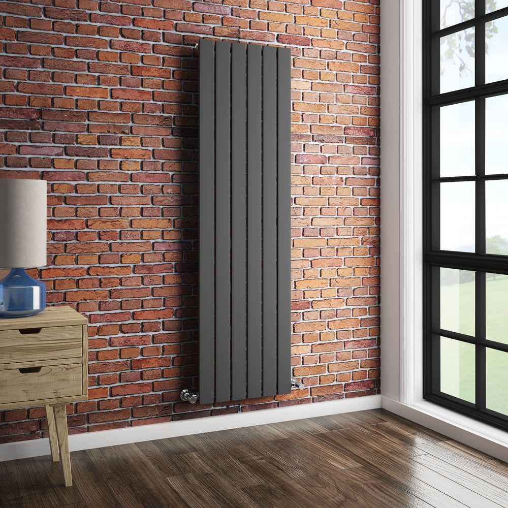 Urban Vertical Radiator Anthracite Single Panel 1600mm High