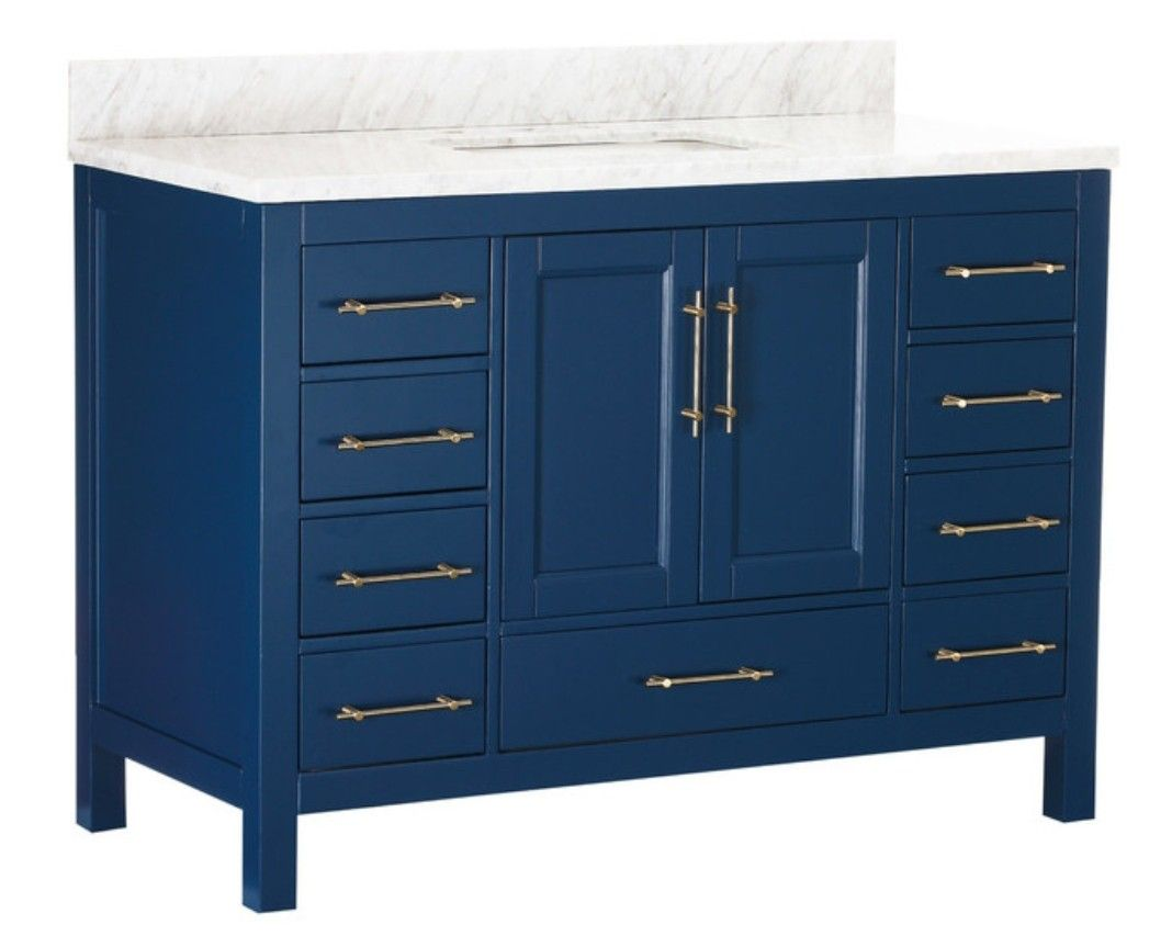 Kendall Bath Vanity Houzz 36 Too Picture Shown Is 48 Inch They Have 36 Inch Blue Bathroom Blue Bathroom Vanity Blue Vanity