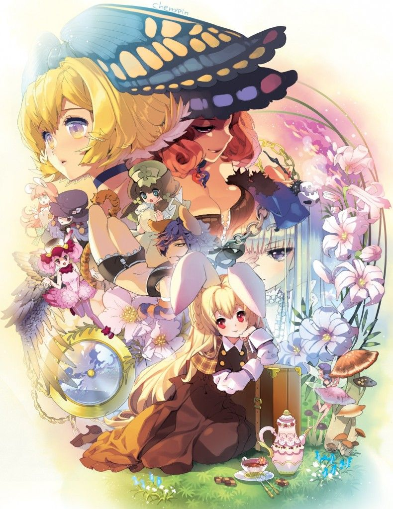 here is quite the amassing alice in wonderland anime