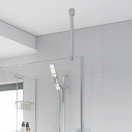 163 72 Roman Square Wetroom Glass Ceiling Support Bar For