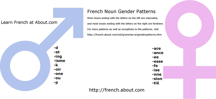 Need To Know The Gender Of A French Noun Its Ending Is A Tip Off French Nouns Learn French Nouns