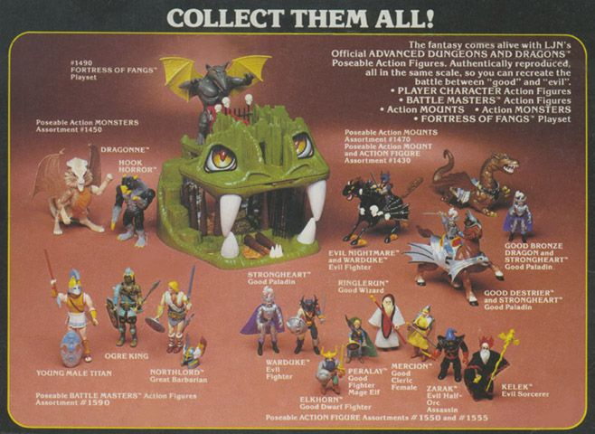 Resultado de imagem para collectibles action figures advanced dungeons and dragons tv