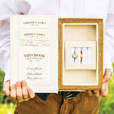 A Promise Made Vintage Inspired Jewelry Book Box Wedding Wedding