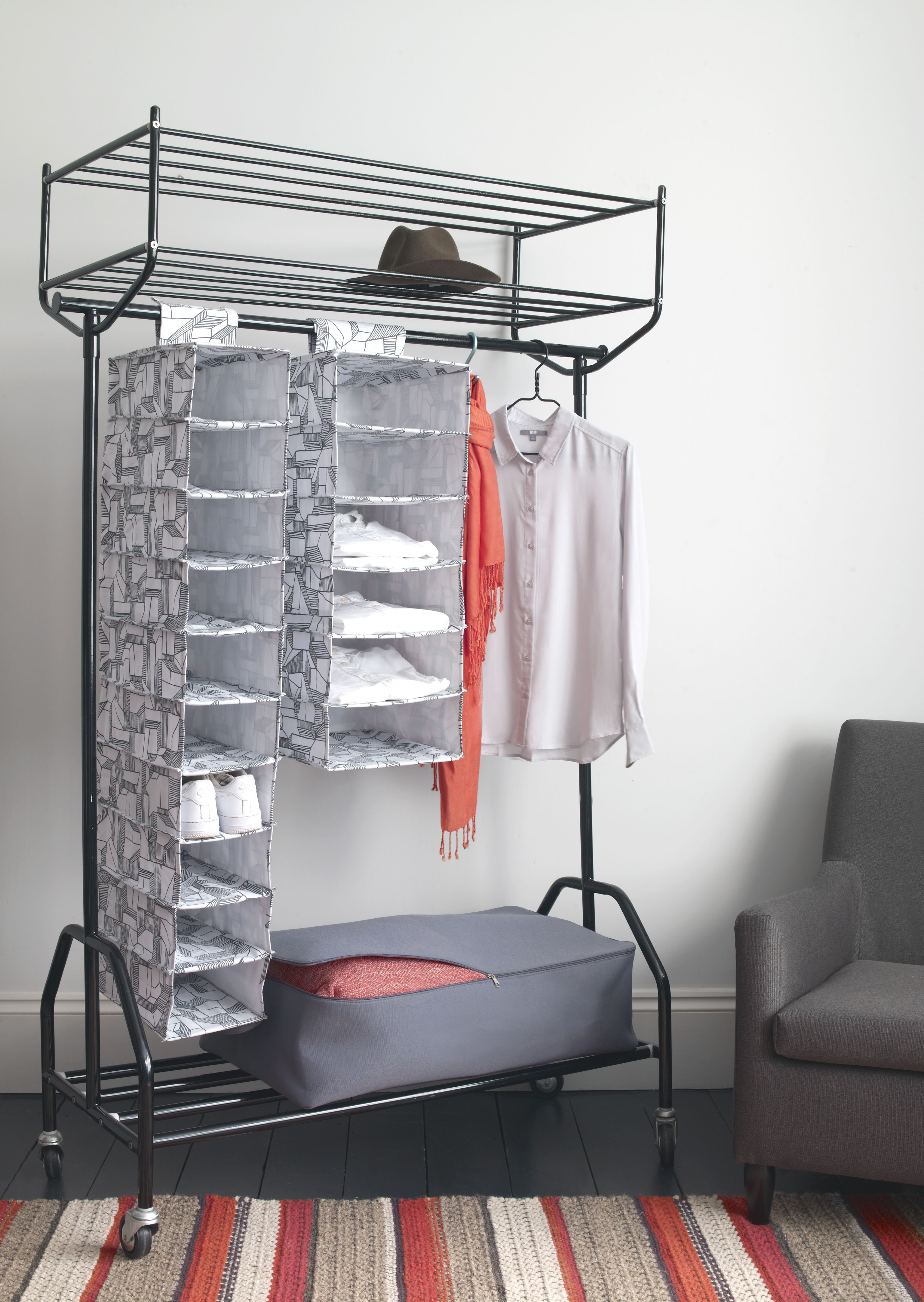 The habitat alexis black metal clothes rail provides valuable the habitat alexis black metal clothes rail provides valuable hanging storage space its easily mobile sisterspd