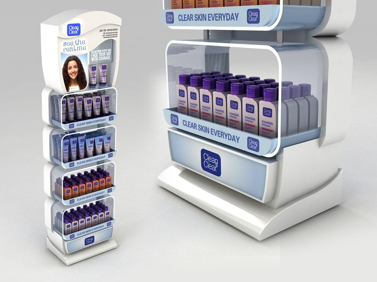 Posm design sofy posm design - Clean Clear Floor Standing Unit On Behance Pos Displaydisplay Designproduct