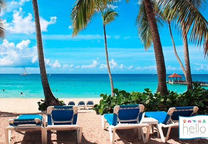 VACACIONES ALL INCLUSIVE CARIBE. ¡Elige tu asiento favorito y pasa el día bajo el sol en la playa de La Romana!🌴☀️🌊 #HelloExperiencie #GranDominicus