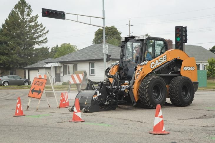 Case sv340 skid steer loader has a rated operating