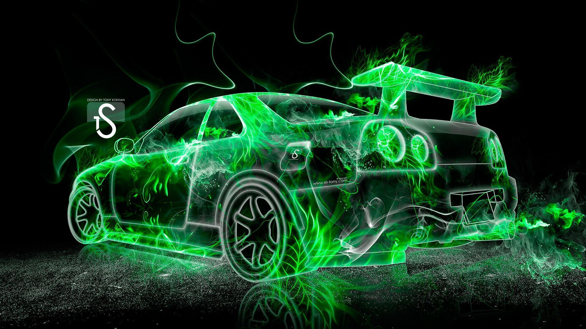Nissan Skyline GTR R34 Fire Abstract Car 2013 « El Tony