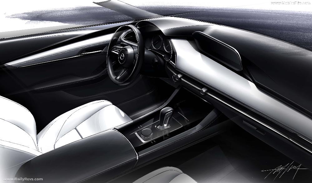 2020 Mazda 3 Dailyrevs Com Car Interior Sketch Mazda 3 Mazda 3 Sedan