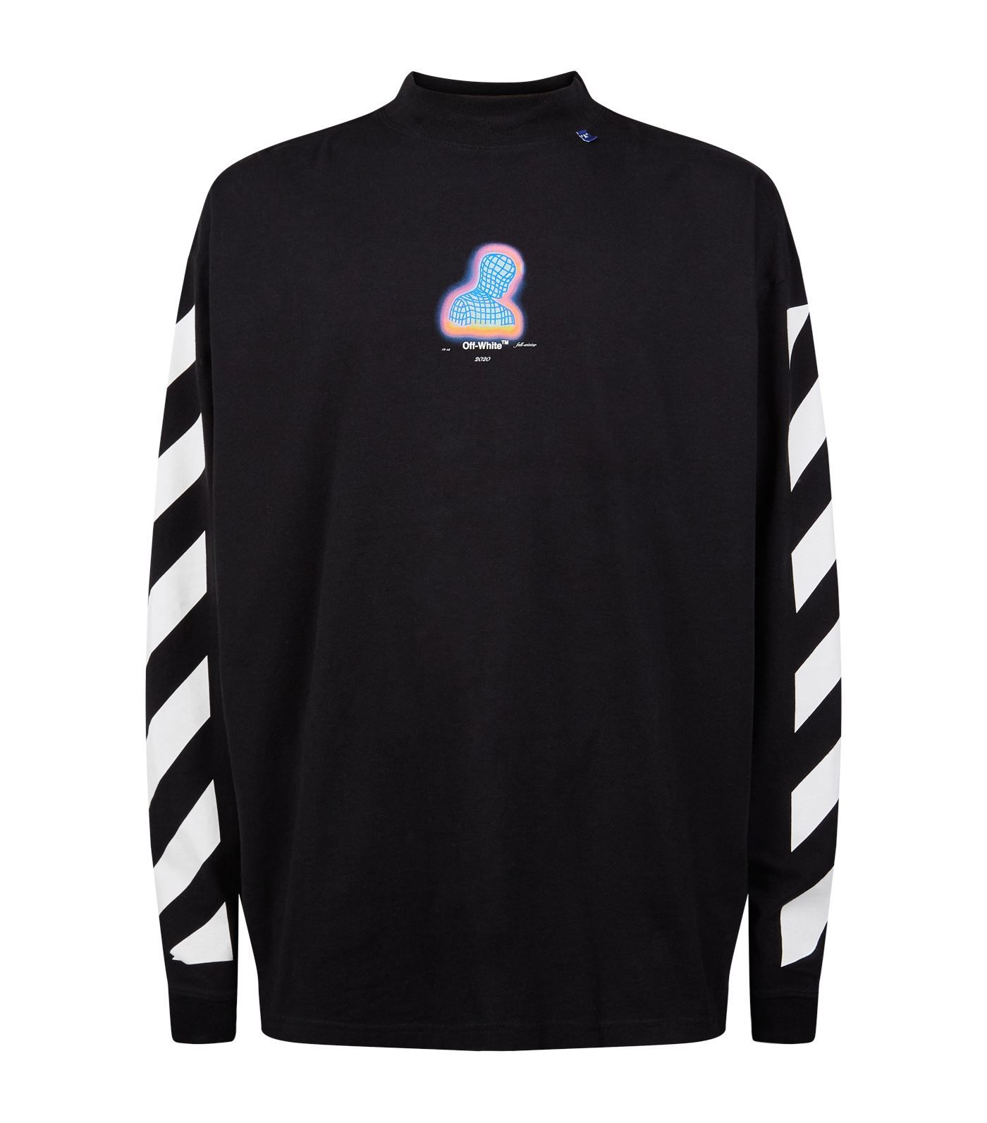 Off White Thermo T Shirt Off White Cloth Long Sleeve Tshirt Men Striped Sleeve Off White [ 1592 x 1400 Pixel ]