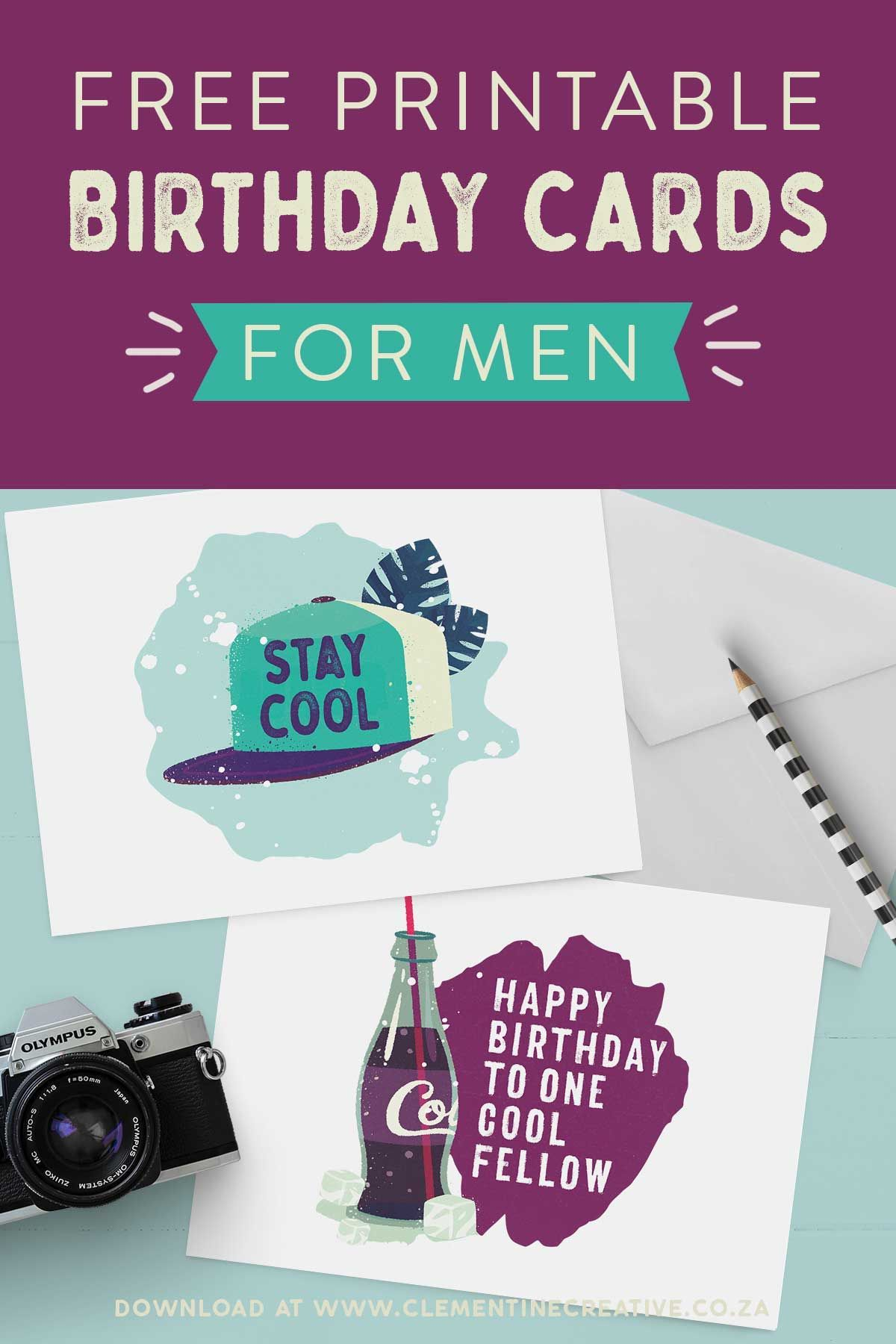 Printable Birthday Cards For Him Premium Stay Cool Birthday Card Printable Birthday Cards For Him Free Printable Birthday Cards