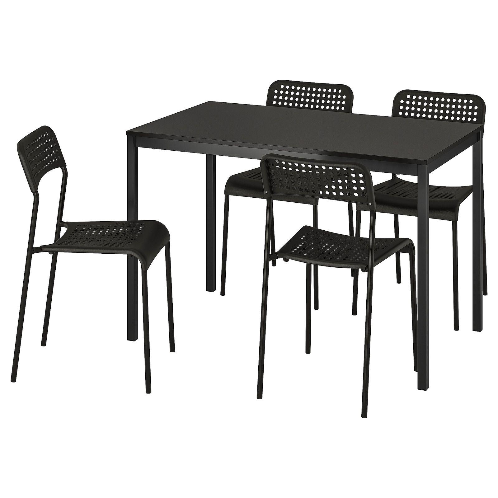 TÄRENDÖ ADDE Table and 4 chairs, black IKEA in 2020