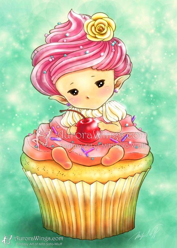 Fairy Cake ATC ACEO Print