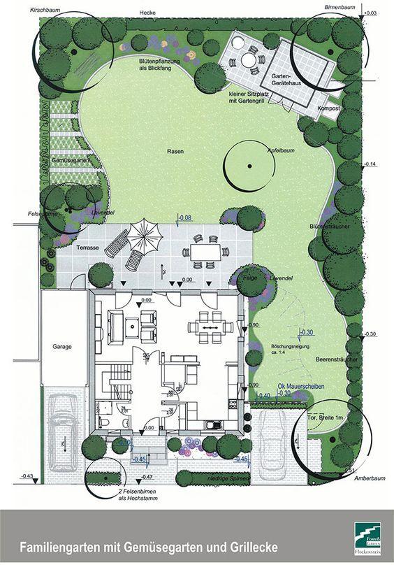 Bildergebnis für gartenplanung zeichnung | Дизайн двора | Pinterest ...