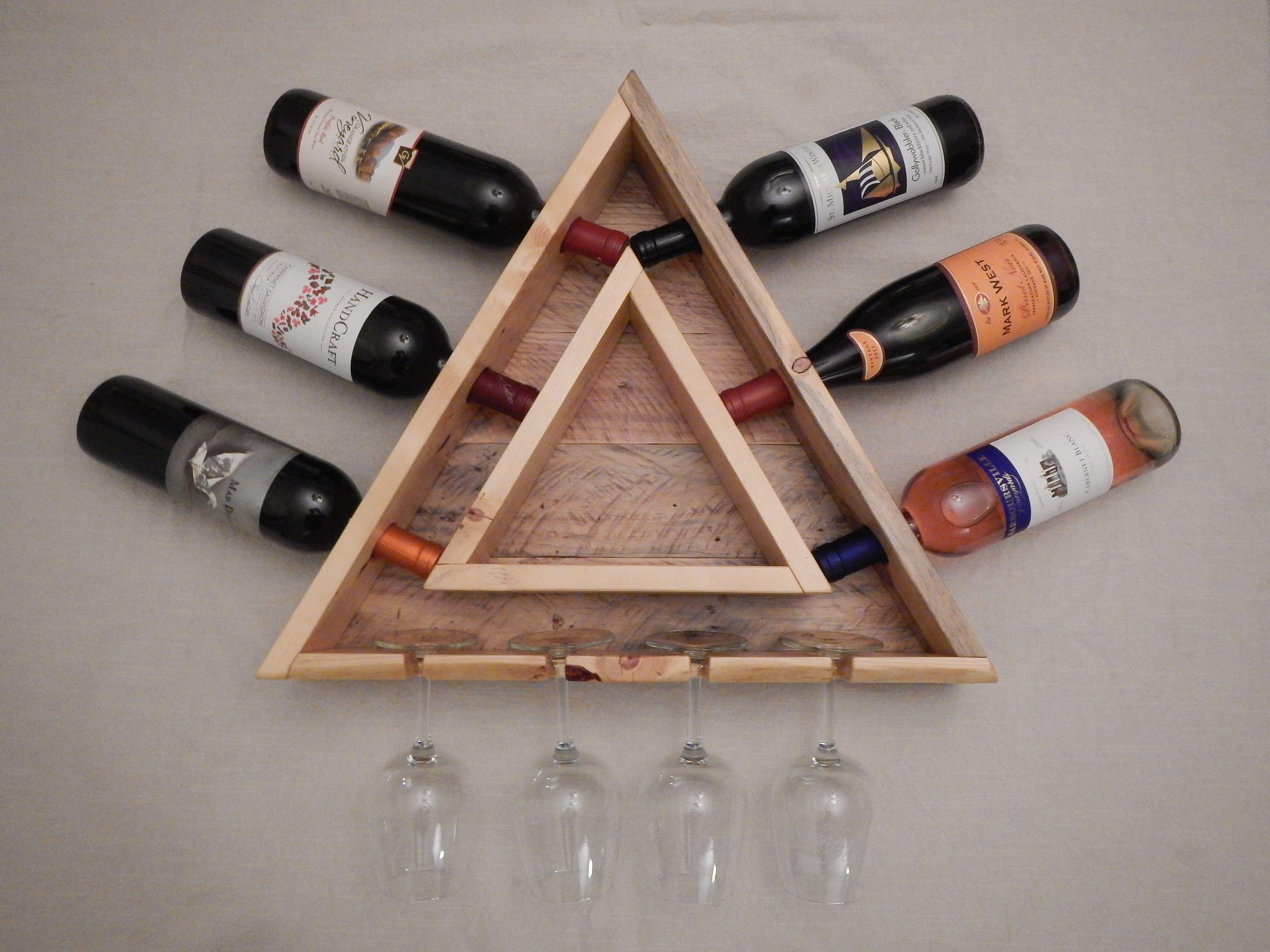 Triangle Wine Rack Diy Wine Rack Wine Rack Pallet Wine Rack Diy