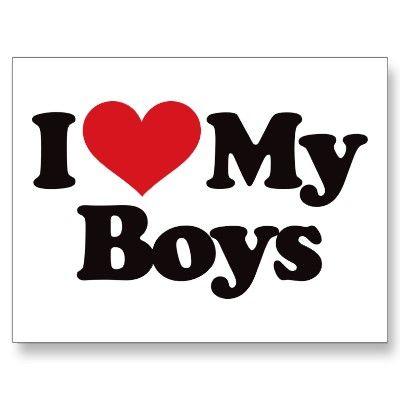 Download I Love My Boys Postcard | Zazzle.com | My children quotes ...
