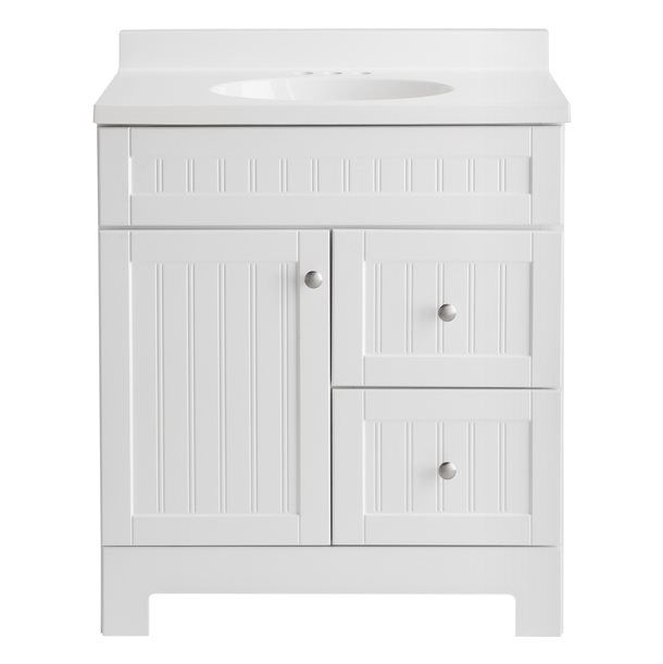Shop Style Selections 31-in Ellenbee White Bathroom Vanity with
