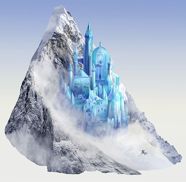 A Frozen Kingdom Ice Castle Design For Wall Decal Sticker