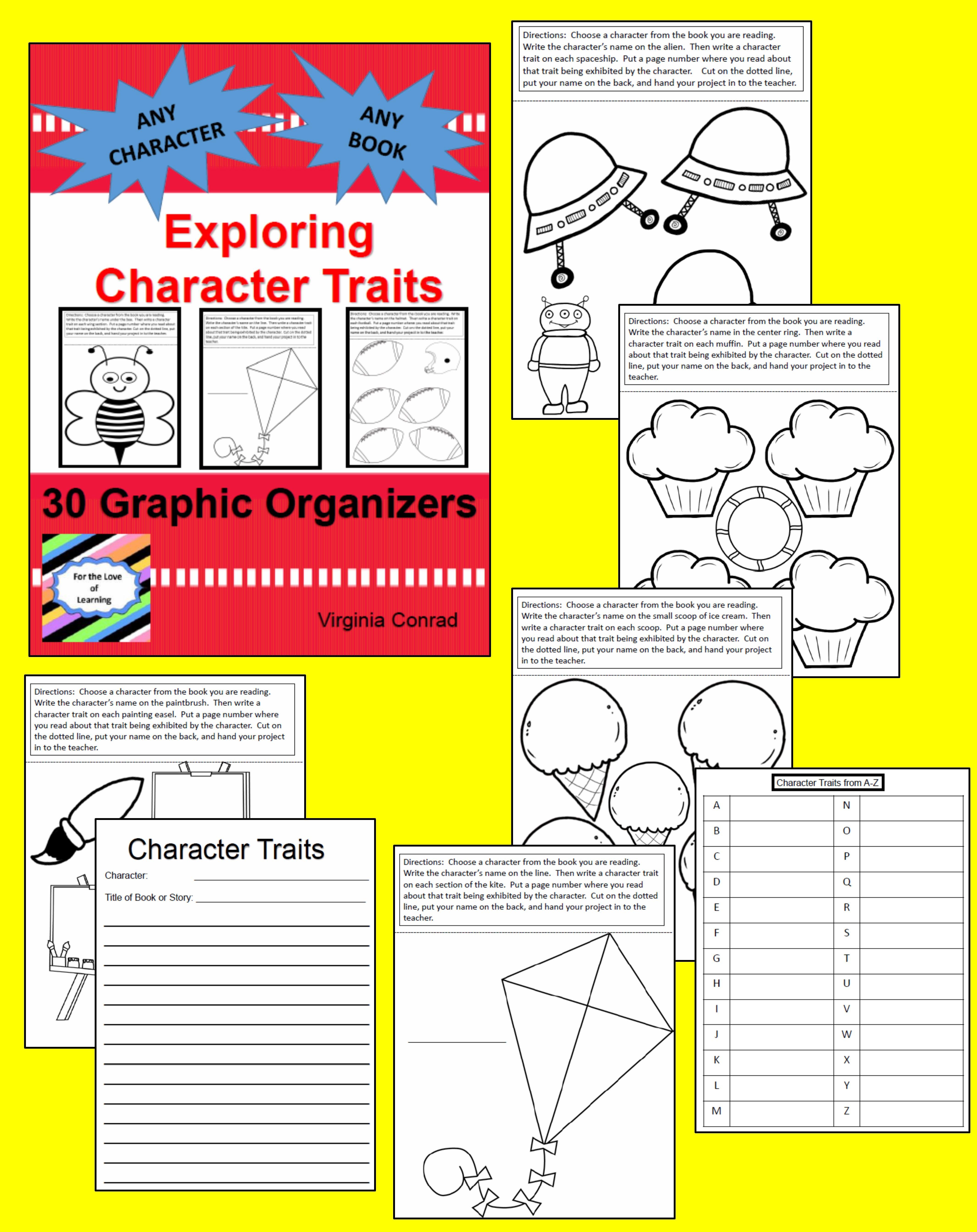 Character Traits 30 Graphic Organizers