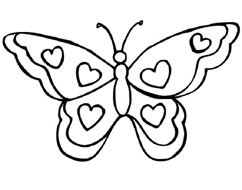 een mooie vlinder om in te kleuren kleuren allerlei