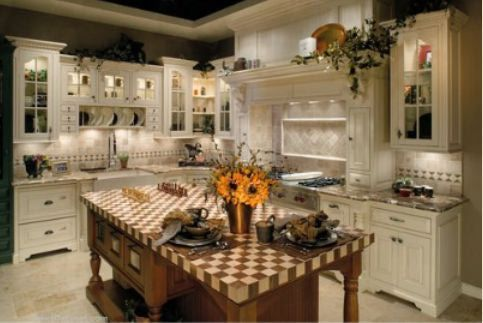 Country-Kitchen Ideas | Kitchen Style - Country Kitchen Style, Page 3.....checkerboard butcher block countertop!